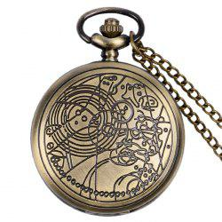 Carved Case Number Vintage Pocket Watch - COPPER COLOR