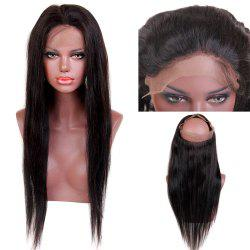 Long Natural Straight Centre Parting Dyeable Lace Front Human Hair 360 Lace Wig with Baby Hair