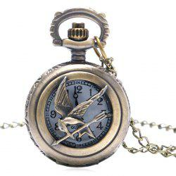 Bird Carving Vintage Quartz Pocket Watch