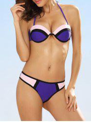 Push Up Colorblock Bikini
