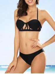 Halter Cut Out Underwire Bikini
