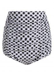 Plaid Vintage Cheeky High Waisted Bikini Shorts
