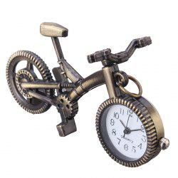 Bike Shape Vintage Quartz Pendant Watch - COPPER COLOR