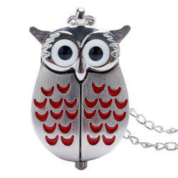 Owl Shape Quartz Pocket Watch