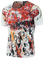Graffiti Printed Crew Neck T-Shirt