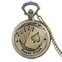 Royal Flush Vintage Quartz Pocket Watch