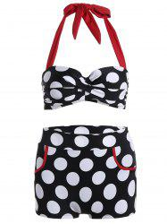 Halter Polka Dot Push Up Bikini