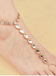 ONE PIECE Rhinestone Teardrop Anklet -