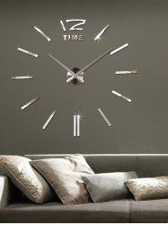 3D Adjustable Size DIY Acrylic Mirror Clock Wall Sticker