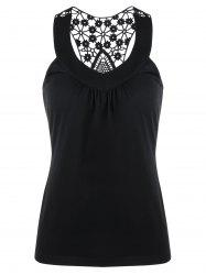 Racerback Crochet Trim Tank Top -