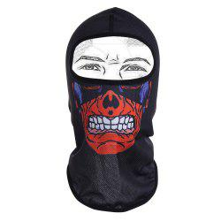 Outdoor Skull Quick Dry Imprimer Full Face Mask vélo - Noir