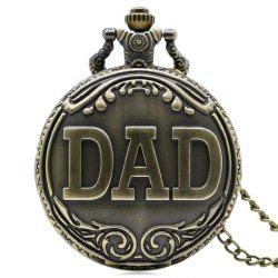 DAD Vintage Sculpture Quartz Montre de poche - Cuivre