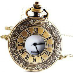 Hollow Roman Numerals Vintage Pocket Watch -