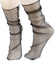Fish Net Lace Socks - FULL BLACK