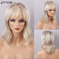 Siv Hair Long Slightly Curly Side Bang Natural Human Hair Wig