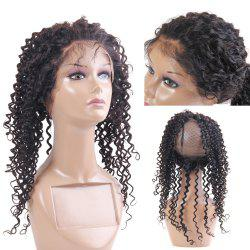 Long Kinky Curly Dyeable Lace Frontal Human Hair 360 Lace Wig with Baby Hair