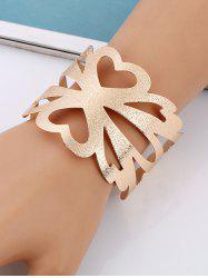 Hollow Out Flower Shape Metallic Cuff Bracelet