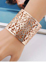 Metal Hollow Out Floral Cuff Bracelet