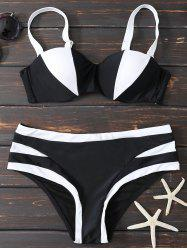 Color Block Push Up Underwire Bikini