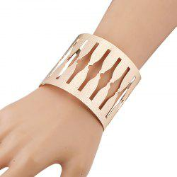 Gold Plated Hollowed Alloy Cuff Bracelet