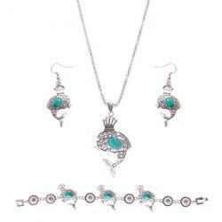 Rammel Crown Dolphin Jewelry Set