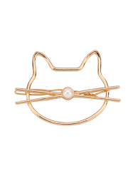 Faux Pearl Kitten Hairgrip - GOLDEN