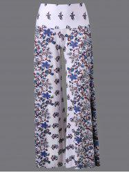 High Waisted Long Palazzo Floral Pants