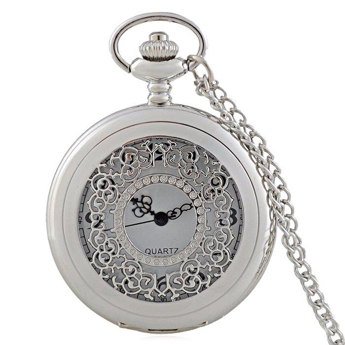 Fashion Hollow Out Engraved Vintage Pocket Watch