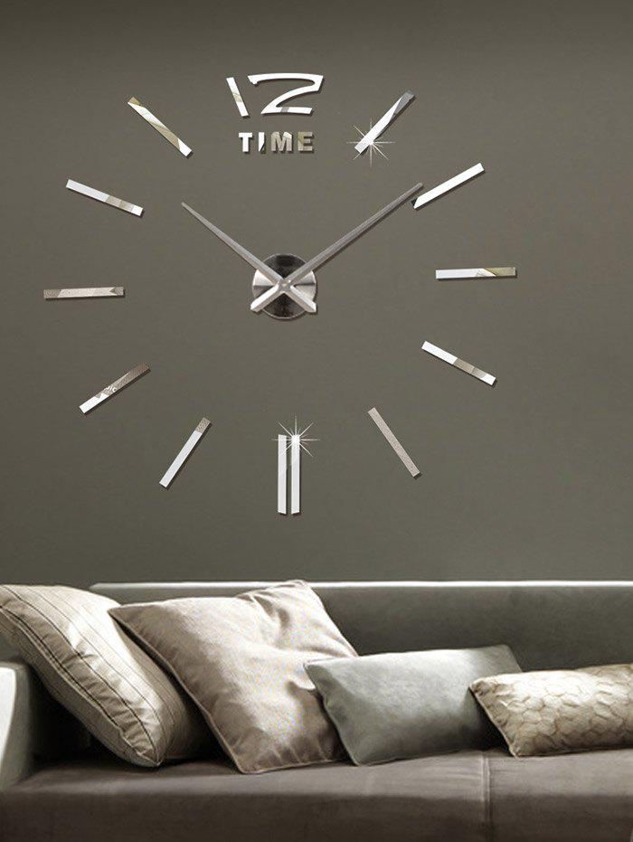 Unique 3d Adjule Size Diy Acrylic Mirror Clock Wall Sticker