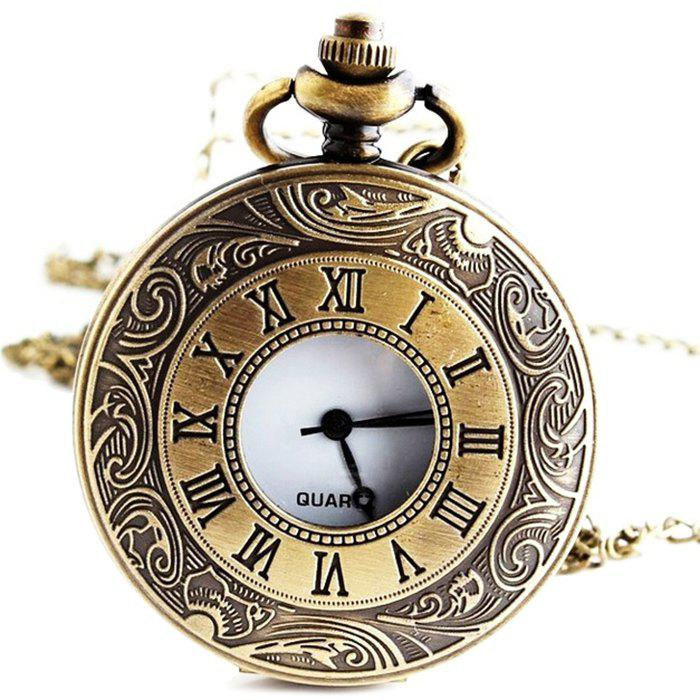 Outfits Hollow Roman Numerals Vintage Pocket Watch