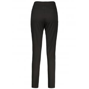 Plus Size High Waisted Ankle Pants - BLACK 2XL