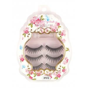 3 Pairs False Eyelashes with Glue - Black - W79 Inch * L71 Inch