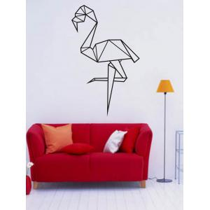 Geometry Cartoon Ostrich Design Wall Stickers For Bedrooms - Black - 57*90cm