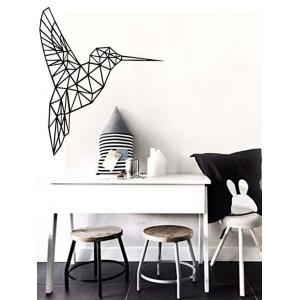 Geometry Bird Removable Decorative Sticker For Wall - Black - 43*52cm