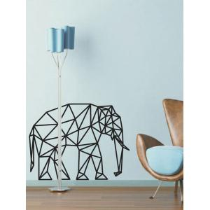 Geometric Elephant Design Wall Stickers For Bedrooms - Black - 47*75cm