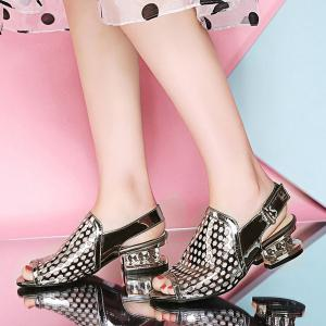 Patent Leather Strange Style Sandals -