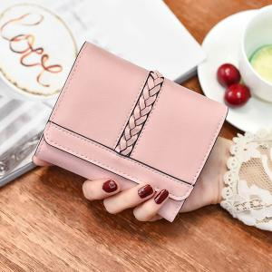 Braided Trifold Small Mini Wallet