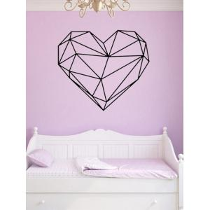 Geometric Heart Shape Waterproof Design Wall Stickers For Bedrooms