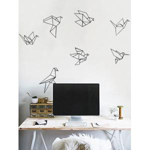 Paper Crane Geometric Print Waterproof Wall Art Sticker