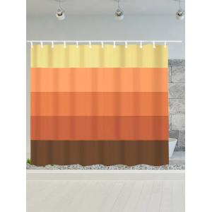 Gradient Striped Waterproof Bath Decor Shower Curtain