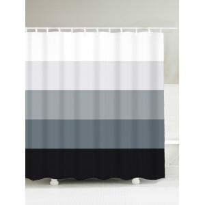 Gradient Stripe Water Resistant Bath Decor Shower Curtain