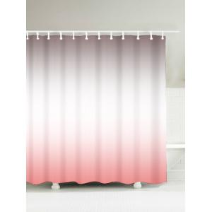 Brief Waterproof Polyester Ombre Shower Curtain - Shallow Pink - 180*200cm