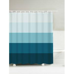 Ombre Stripe Waterproof Polyester Shower Curtain - Azure Blue - 150*180cm