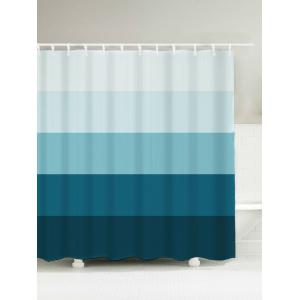 Ombre Stripe Waterproof Polyester Shower Curtain