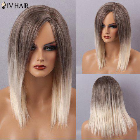 Outfits Siv Hair Long Straight Side Part Capless Human Hair Wig - COLORMIX  Mobile