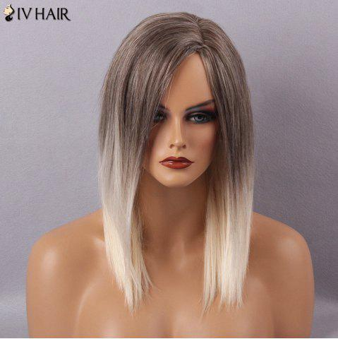New Siv Hair Long Straight Side Part Capless Human Hair Wig - COLORMIX  Mobile