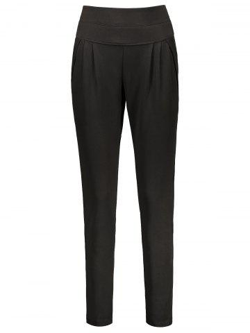 Shop Plus Size High Waisted Ankle Pants BLACK 2XL