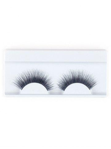 Sale Lengthening False Eyelashes with Glue - BLACK  Mobile