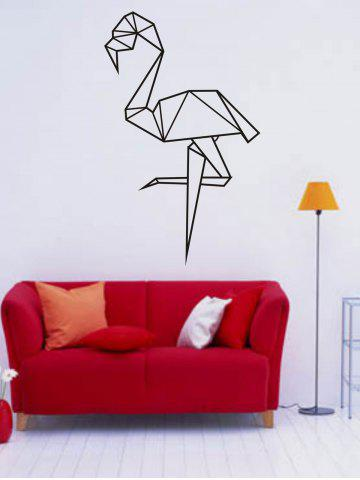 Black 5790cm Geometry Cartoon Ostrich Design Wall Stickers For