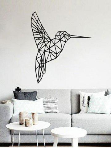 Chic Geometry Bird Removable Decorative Sticker For Wall - 43*52CM BLACK Mobile